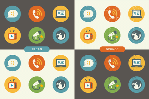 50 Colorful Flat Summer Icons