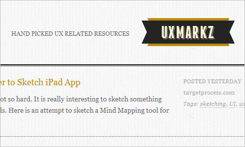 UXMARKZ - Hand picked UX related resources