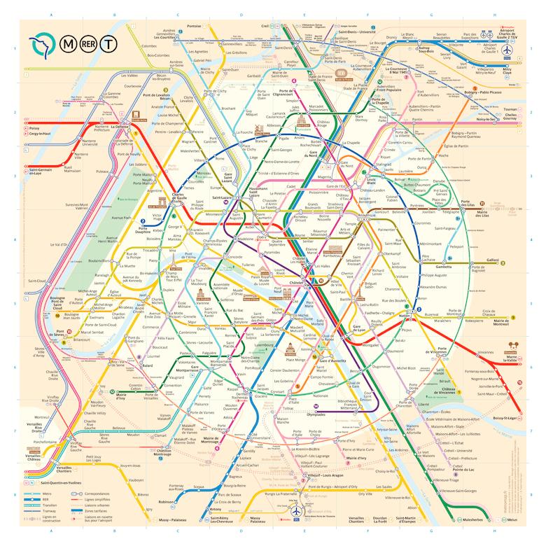 Paris metro map (Constantine Konovalov)