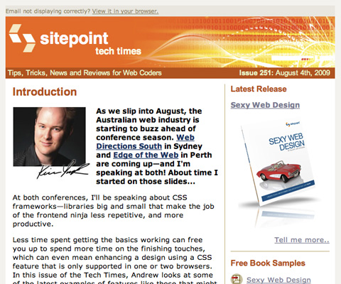 SitePoint Tech Times