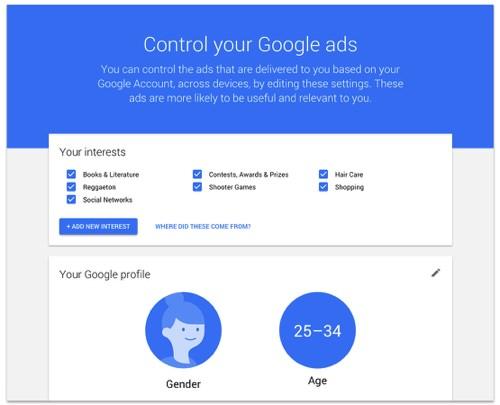 Controlling Google ads