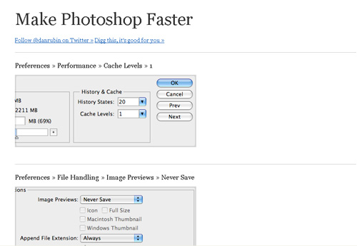 Make Photoshop Faster on IE6