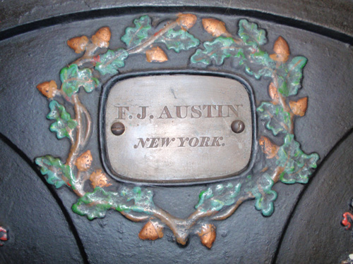 F.J. Austin of New York engraved his name in a bold modern face.