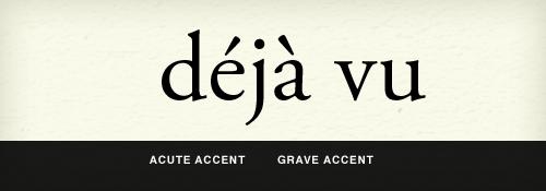 acute vs. grave accent