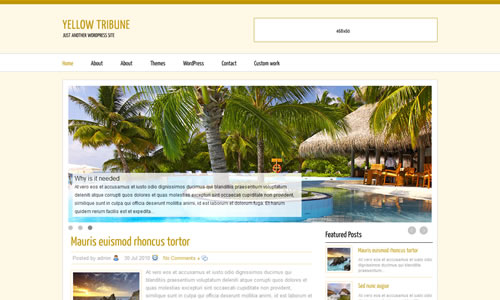 Yellow Magazine Free WP Theme