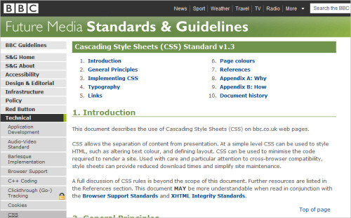 BBC's CSS Guidelines