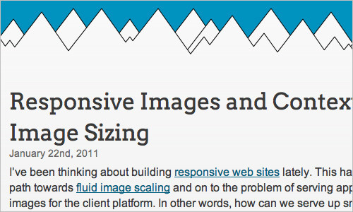 Responsive Images and Context-Aware Image Sizing