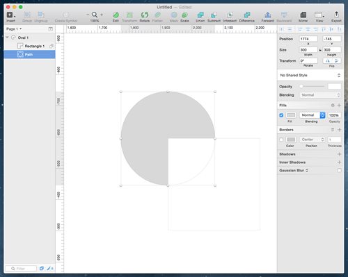 Compound shapes in Sketch