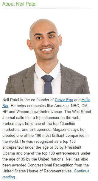 Blogger Neil Patel