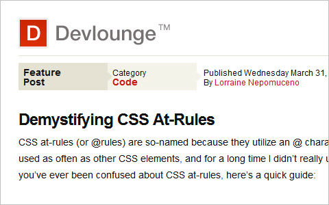 Demystifying CSS At-Rules