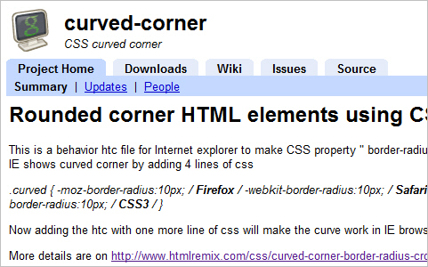 Rounded corner HTML elements using CSS3 in all browsers