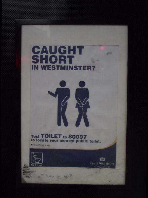 Wayfinding and Typographic Signs - toilet-locator-sign