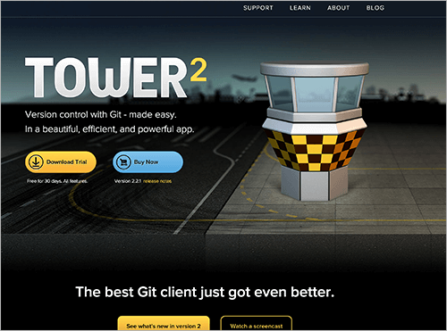 Screenshot of Tower website.