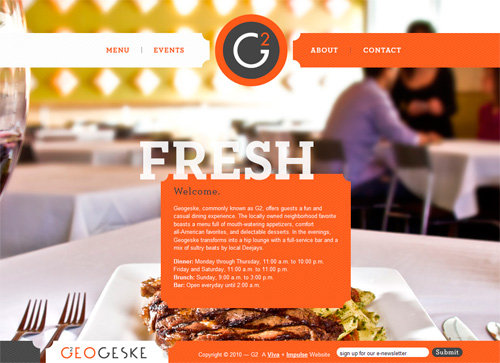 Showcase of Appetizing Restaurant Websites