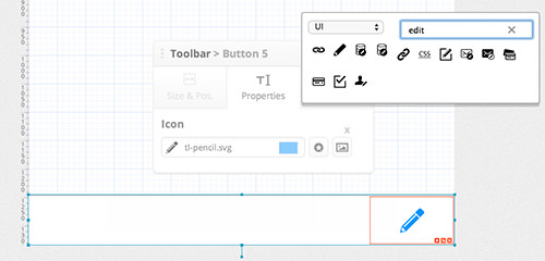 Changing a toolbar icon in the editor.
