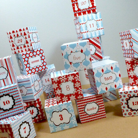 advent calendar box templates