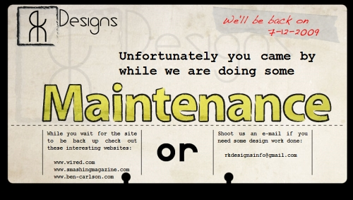 Type Layout For Free Download - Maintenance