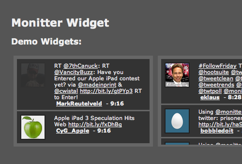 Monitter - real-time Twitter.