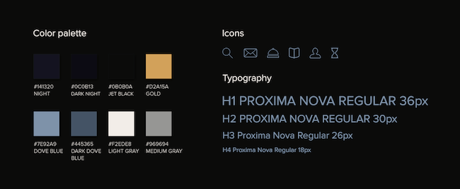 Color palette and typography serve as solid visual cues in UX design for the luxury industry