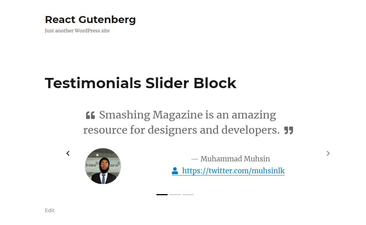 Getting Started With Gutenberg By Creating Your Own Block — Smashing