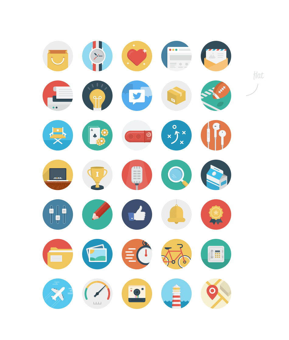 36 beautiful rounded icons meet the ballicons 2 freebie for Free people store decor
