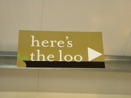 Wayfinding and Typographic Signs - heres-the-loo