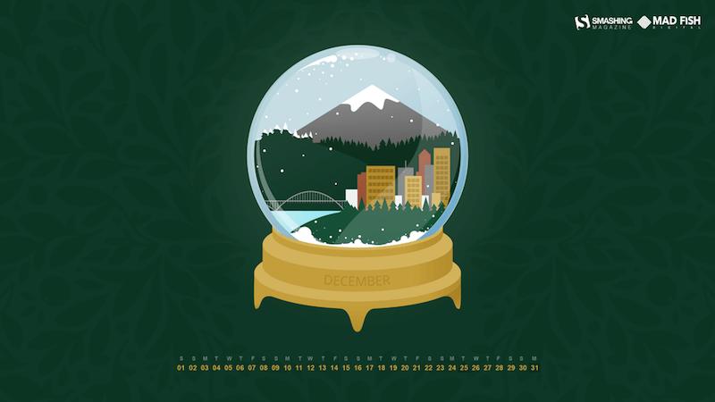 Portland Snow Globe