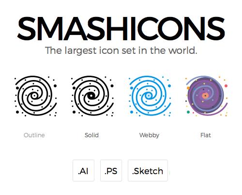 500 Smashicons – A 4 Styles Iconset