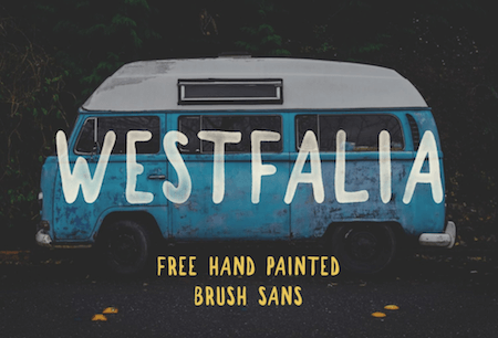 Freebie: Westfalia — A Hand-Painted Brush Sans