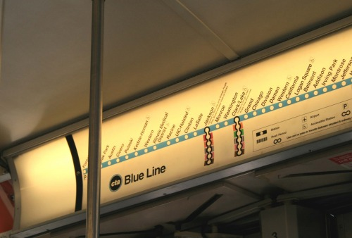 Wayfinding and Typographic Signs - blue-line-of-chicago