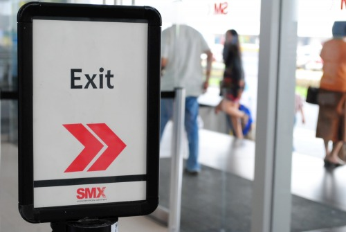 Wayfinding and Typographic Signs - exit-this-way