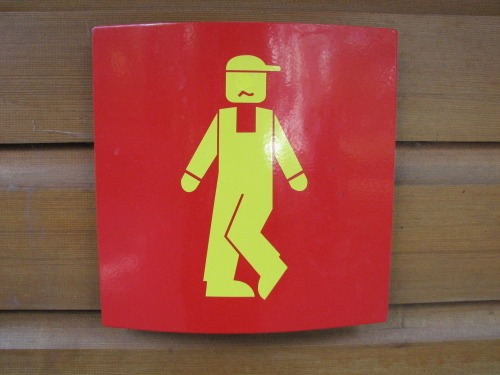 Wayfinding and Typographic Signs - little-boys-room