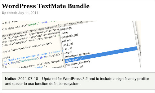 WordPress TextMate Bundle