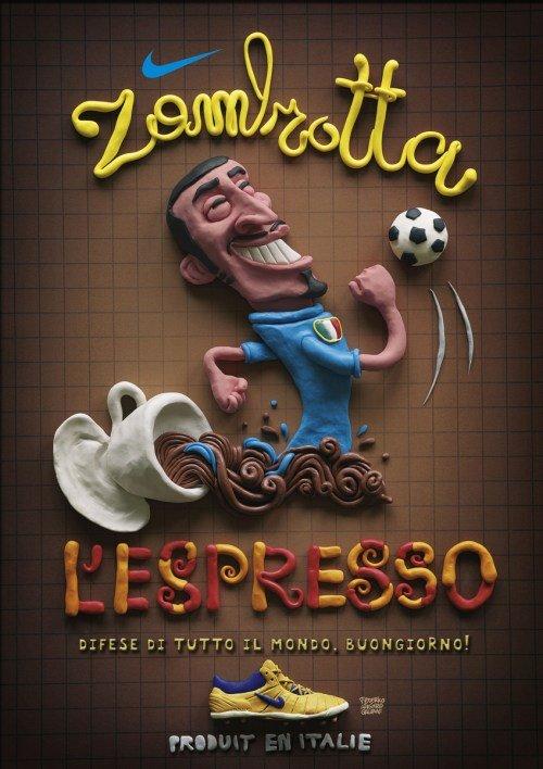 Nike Italy Zambrotta in Plasticine Art Showcase