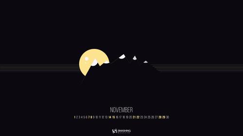 November Nights On Mountains