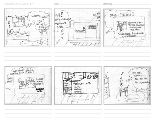 How to sketch a new mobile web smashing magazine for Magazine storyboard template