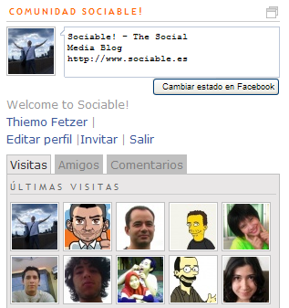 Facebook Connect Implementation as seen on Sociable.es