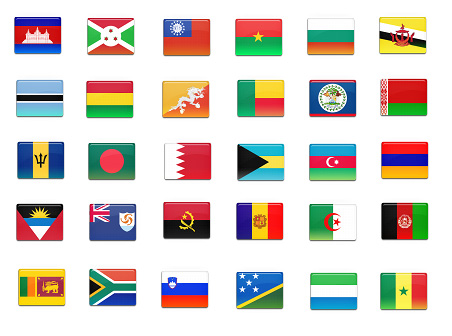 Free Icons Round-Up - 172 final country flag icons