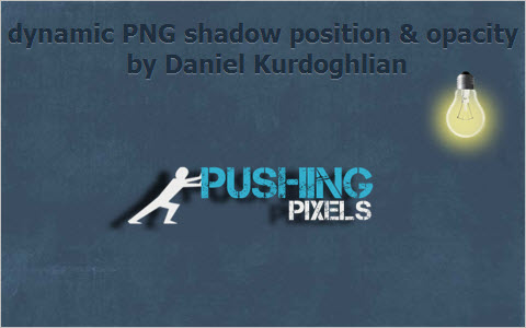 dynamic PNG shadow position and opacity
