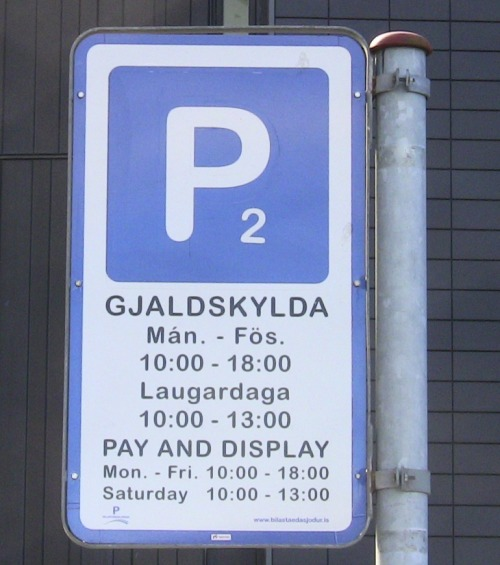Wayfinding and Typographic Signs - pay-and-park