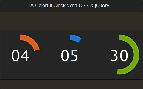 A Colorful Clock With CSS and jQuery