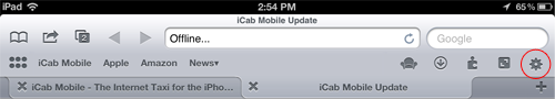 iCab Settings Icon