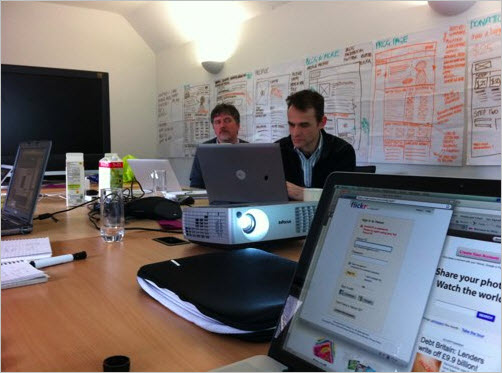 The team at Headscape in a wireframing session