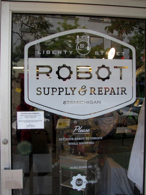 Wayfinding and Typographic Signs - robot-supply-repair
