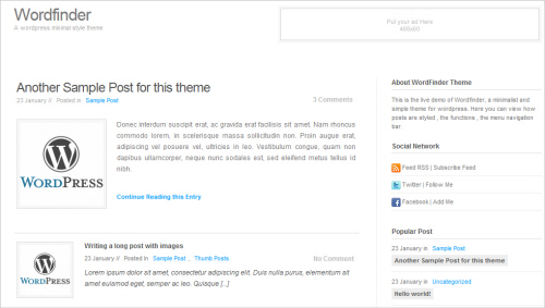 Wordfinder Free WP Theme