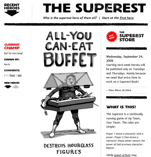 Retro and Vintage Designs - The Superest: Who is the superest hero of them all?