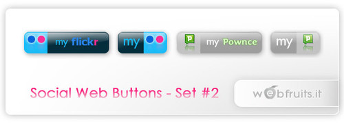 Freebies Icons - Social Web Buttons - Set 2 - WebFruits Blog // web design, grafica, internet, blog...