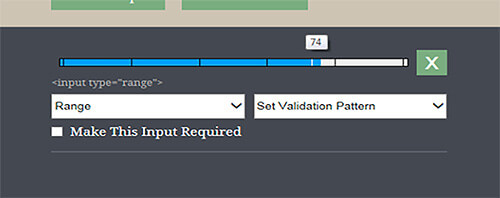 Internet Explorer 10+'s implementation of the range input type shows incremental divisions and its current numeric value on mouse drag.