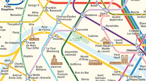 Subway Map Paris English.Paris Metro Map The Redesign Smashing Magazine