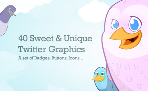 Free Icons Round-Up - Twitter Badges